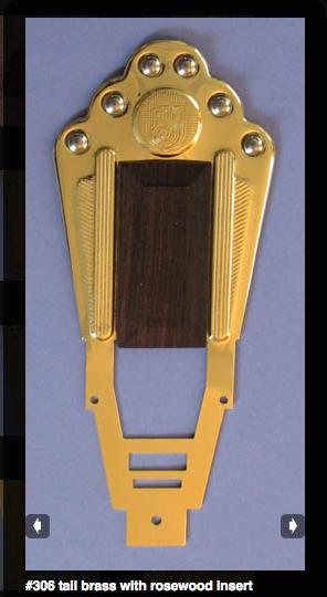 Miller Tailpiece brass/rosewoof gypsyguitar